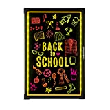 Woodsam Lighted LED Writing Board - 28' X 20' Flashing Illuminated Erasable Neon Sign With 8 Colorful Markers - Perfect for Children, School, Home, Office, Business Holiday Celebration Gift