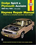 H30060 Haynes Dodge Spirit Plymouth Acclaim 1989-1995 Auto Repair Manual