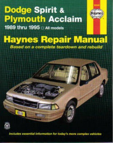 H30060 Haynes Dodge Spirit Plymouth Acclaim 1989-1995 Auto Repair Manual pdf epub