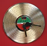 #7: Led Zeppelin Gold LP Record Clock Laser Etched W/ Lyrics To