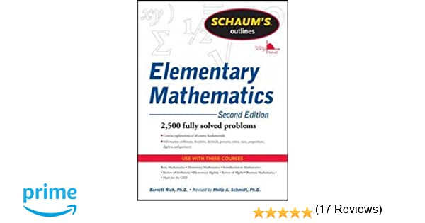 Amazon.com: Schaum's Outline of Review of Elementary Mathematics ...