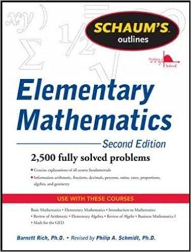 Amazon.com: Schaum's Outline of Review of Elementary Mathematics ...