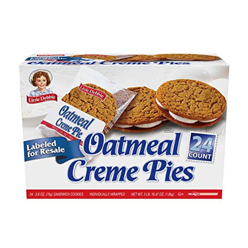 Little Debbie Oatmeal Creme Pies, 2.1 Ounce Twin Pack, 24 Count