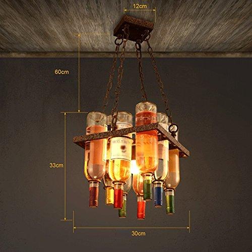 Cafe Bottle Shop (ZI LIN SHOP- Chandelier Creative Bar Restaurant Cafe Decoration Wine Bottle Personality Bar Art Living Room Living Chandeliers rug)