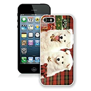 Popular Sell Design Iphone 5S Protective Cover Case Christmas Doggies iPhone 5 5S TPU Case 1 White