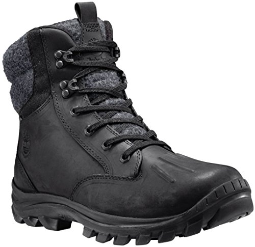 Timberland Men's Chillberg Mid Waterproof Insulated Snow Boot, Black Connection Full Grain, 10 M US