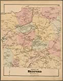 Historic 1872 Map | Plate 76: Town of Bedford, Westchester Co. N.Y. | Antique Vintage Map Reproduction