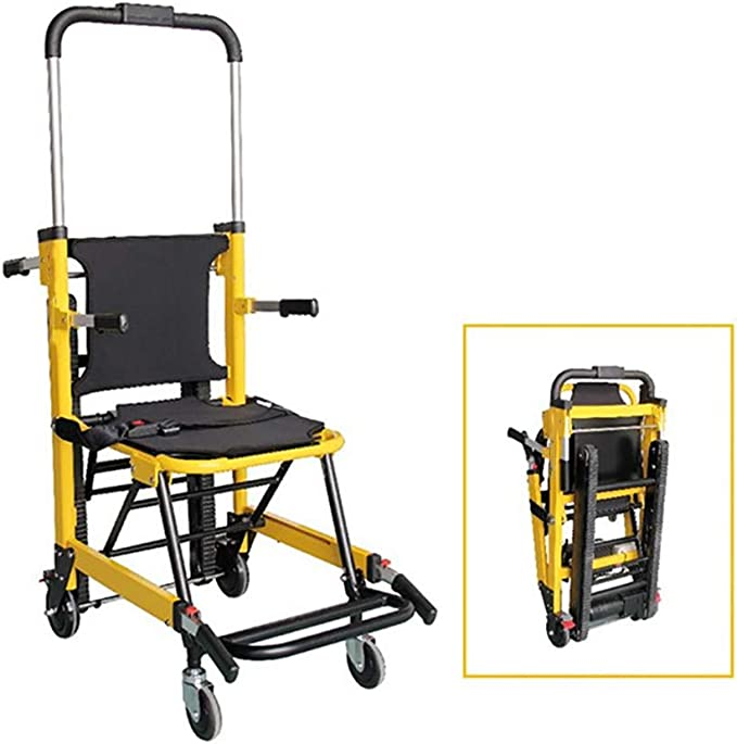 ZZYYZZ Ambulancia Plegable Aleación de Aluminio Escalera Camilla Plegable Escalera Silla de evacuación Elevación médica Capacidad de Peso 400 lbs: Amazon.es: Hogar