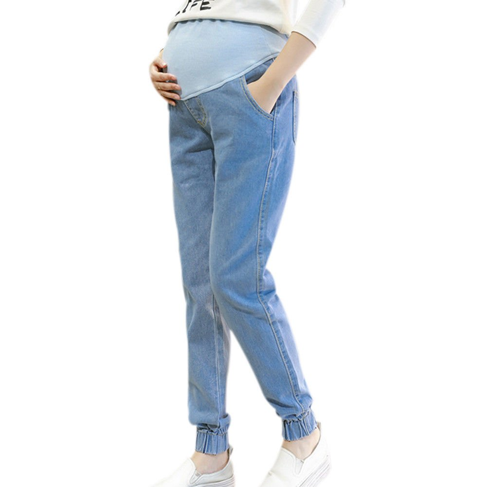Xinvision Maternity Loose Denim Pregnant Pants Trousers Motherhood Belly Cover Ltd.