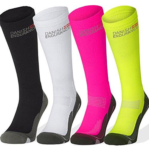 Graduated Compression Socks (Black 1 Pair, US Women 11-13 // US Men 9.5-12.5)