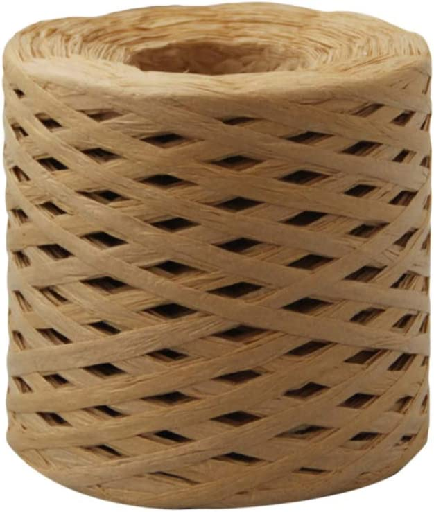 Gift Wrap Ribbon Bouquet Wrapping DIY Crafts For Party Wedding Decoration,218 yards//200M length A roll Raffia Paper Twine Rope
