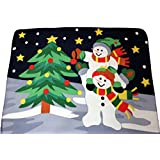 Snowman Fleece Blanket Christmas Throw by UK Christmas World