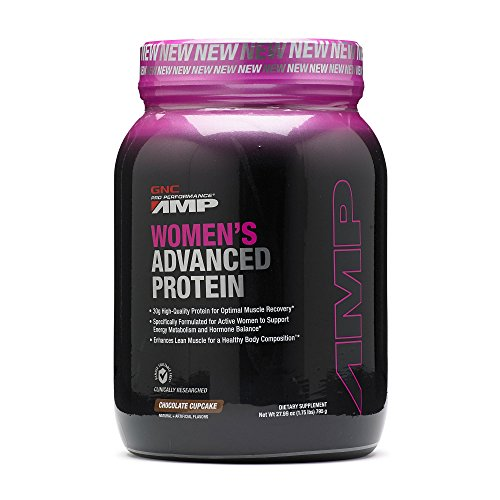 Gnc Protein Whey (GNC Pro Performance AMP Womens Advanced Protein Chocolate Cupcake 1.75)