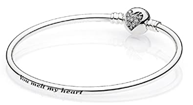 fee7bef06 Image Unavailable. Image not available for. Color: PANDORA Sterling Silver  You Melt My Heart ...