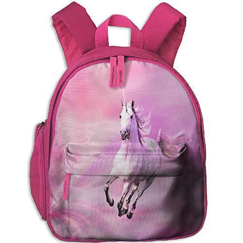 Little Girls Boys Cartoon Waterproof Toddler Backpack With Adjustable Shoulder Straps Unicorn Horse Printed Mini Backpack Gift For Children In Pre School Or Kindergarten
