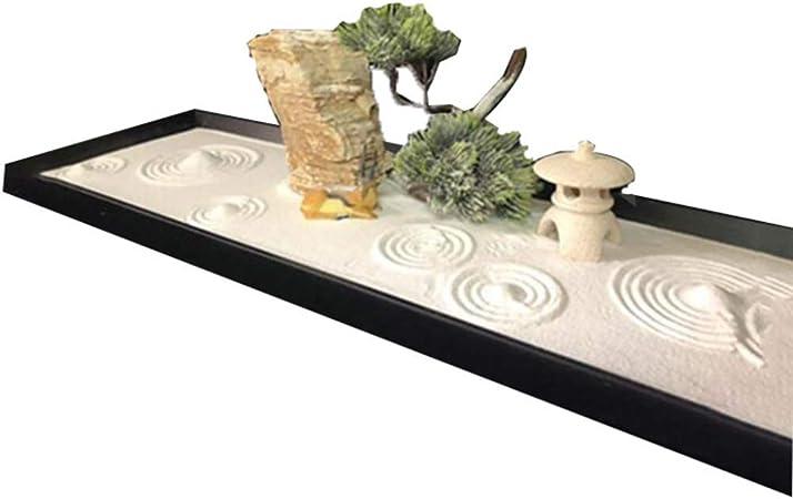 Hjyi Meditación Zen Garden,Jardin Zen Montaña Seca Mesa de Arena Decoración del Paisaje Casa Zen Sala de té Meditación Relajación Decoració: Amazon.es: Hogar