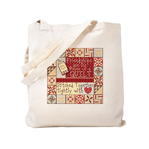 CafePress Friendships Are Like Quilts Natural Canvas Tote Bag, Cloth Shopping Bag