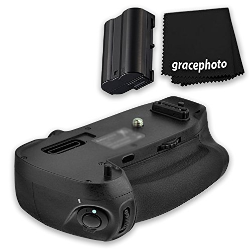 Super Pro series Multi-Power Battery Grip For Nikon D750 + Grace Photo Cleaning Cloth + Extra Battery by Grace Photo