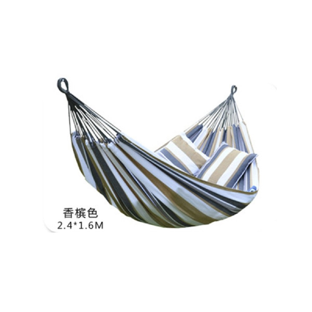 重い 綿 二人のハンモック,ハンモック アウトドア キャンプ 通気性 屋内 庭 装飾 ハンモック B07DRLWTZ1 240x160cm(94x63inch)|E E 240x160cm(94x63inch)