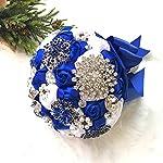 Abbie-Home-Brooch-Bouquet-Grace-Royal-Blue-Rhinestone-Gem-Pearl-Brooch-Wedding-Bridal-Satin-Rose-Flower