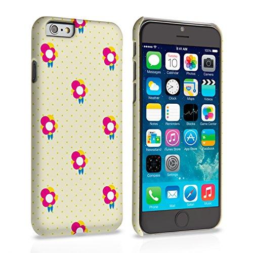 Caseflex iPhone 6 Hülle Gelb / Rosa Delikat Tupfel Und Blumen Hart Schutzhülle