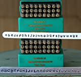 Supply Guy 3mm Cinnamon Cake Font Metal Stamp Letter Set, Available in Uppercase, Lowercase or Combination Set (Combination SGCH-CCUL3MM)