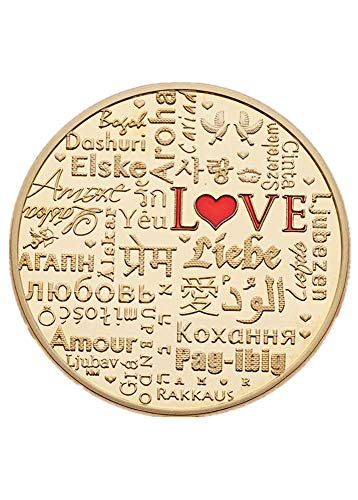 New Words Love Coins Plated 24K Valentine