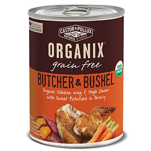 Castor & Pollux Organix Butcher & Bushel Organic Chicken Wing & Thigh Dinner With  Sweet Potatoes In Gravy, 12.7 Oz., Case Of 12 Cans (Best Organic Chicken Brands)