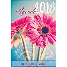 The Treasure of Wisdom 2018 Agenda - Daisy Cover: A daily agenda with an inspirational quote or Bible verse for each day of the year