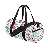 Unisex Wedding Pattern Design Gym Sport Team Issue Duffel Bag by Top Carpenter