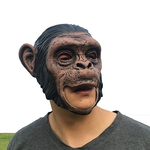 New Halloween Apes Latex Mask Animal Orangutan Orangutan Mask