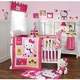 Lambs & Ivy Hello Kitty Garden 5 Nursery Baby Crib Bedding Set and Bumper