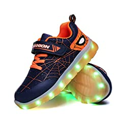 YUNICUS Kids Light Up Shoes Led Flash Sn...