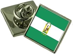 Select Gifts Andalucia Bandera Insignia de solapa de plata maciza 925