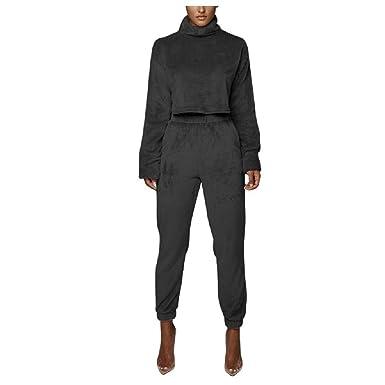 Doufine - Chándal térmico para Mujer (Cuello Alto) Negro Negro ...