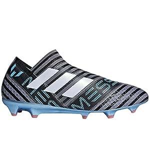 adidas Nemeziz Messi 17 + FG - Zapatillas de fútbol, 10.5, Gris/Azul