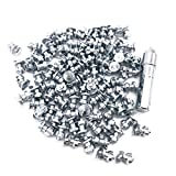 Marrkey Screw in Tire Stud, Steel Body Carbide Tips [Security Anti-Skid] Spikes Tire/Tyre for Bicycle/Shoes/Boots with Installation Key - Pack of 100