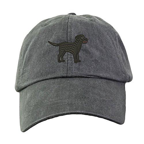 Lane Weston Black Labrador Retriever Embroidered Baseball Hat Unisex Unstructured Cap
