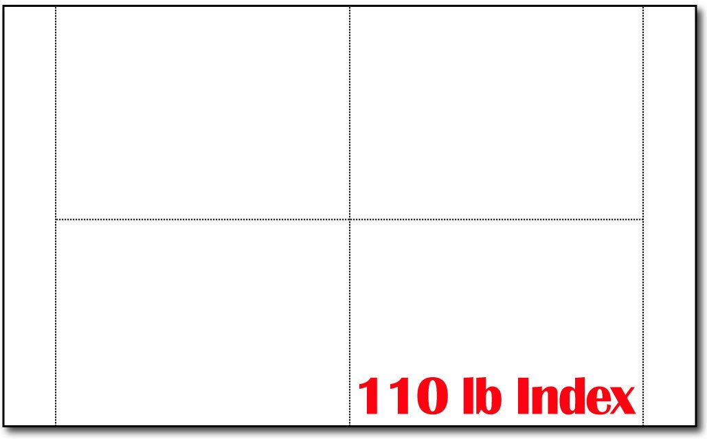 1000 Blank White Postcards- 250 Sheets - 4 Per Sheet (4 1/4'' X 6'' Each) - 110lb Index - Inkjet & Laser Printer Compatible by Desktop Publishing Supplies, Inc.