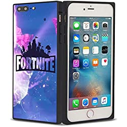 Phone Case for iPhone 7 Plus/8 Plus [5.5in] Cube Fortnite Game Battle Royale Kevin Butterfly Explosion