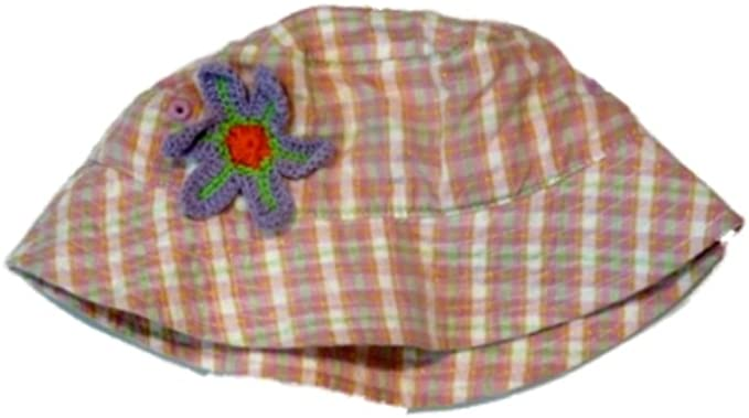 Kid Connection Stripped Pink Flower Infant Girls Bucket Hat Sun Floppy Hat Rain
