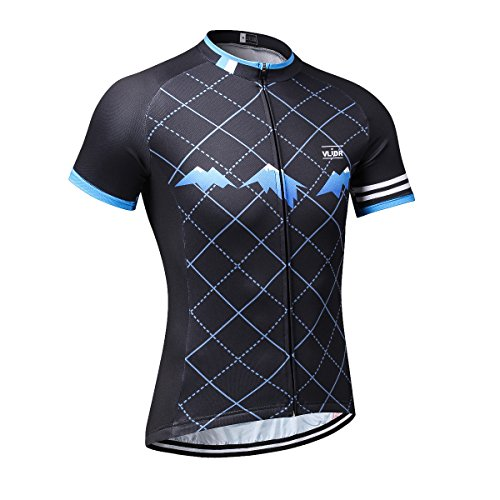 VLIDR Outdoor Sports Men's Short Sleeve Cycling Jersey Quick Dry Biking Bike Shirt Size M