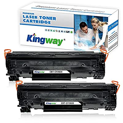 Kingway Compatible HP 83X CF283X Toner Cartridge for HP LaserJet Pro M201dw M201n M225dw M225dn Printer High Yield 2,200 Pages (Black, 2 Pack)
