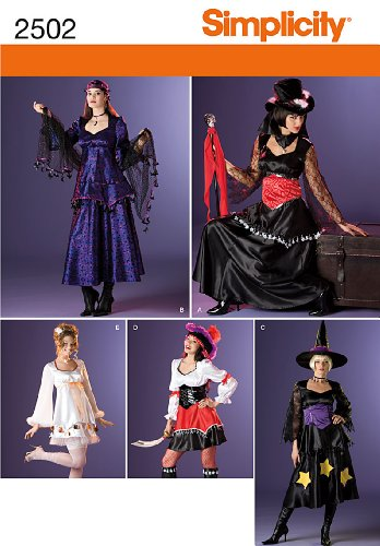 Simplicity Sewing Pattern 2502 Misses Costumes, U5 (16-18-20-22-24)