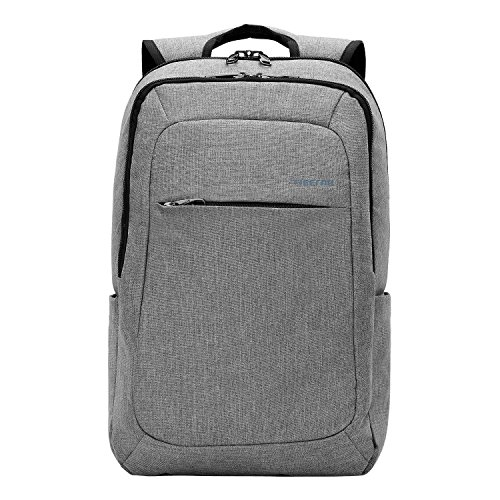 Kopack Slim Business Laptop Backpacks Anti thief Tear / water Resistant Travel Bag fits up to 15 15.6 Inch Macbook Computer Backpack in Gray