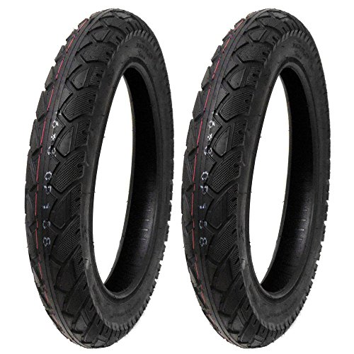 SET OF TWO: Street Tread Tire Size 16x3.0 Fits Electric Bikes, Scooters, e-Bikes, Mopeds, Kids Bikes BMX by MMG