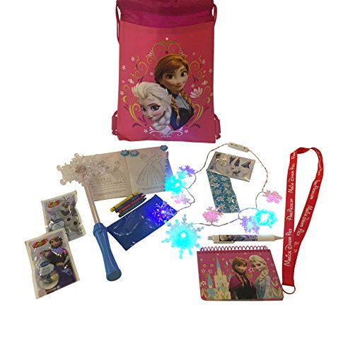 Disney World Frozen Vacation Pack with backpack, LED Snowflake necklace & Wand