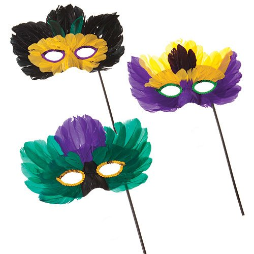 Shindigz Mardi Gras Feather Masks 1