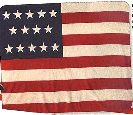 Amazon Com American Flags U S A Flag Fleece Throw Blanket 50 X 60 Home Kitchen