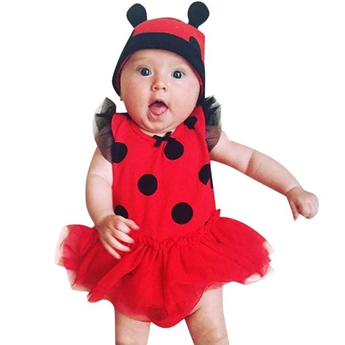Longra Baby Kleider Neugeborene Madchen Marienkafer Cosplay Kostum